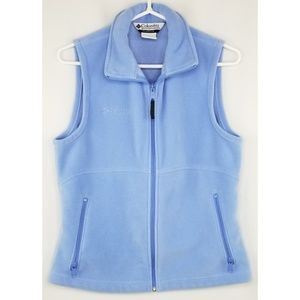 Columbia Light Blue Zip Up Vest Size Medium